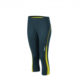 Image of James et nicholson collants corsaire running jogging jn481 gris fer citron femme course a pied l