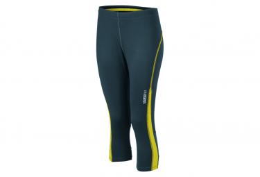 James et Nicholson collants corsaire running jogging JN481 - gris fer - citron - femme - course à pied