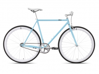 6KU Vélo Complet Fixie FRISCO 2 Bleu/Blanc