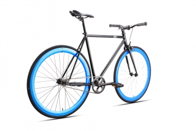 6KU Vélo Complet Fixie SHELBY 4 Noir/Bleu