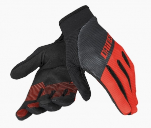 dainese paire de gants guanto rock solid c noir rouge s