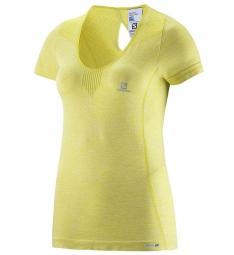 salomon 2015 t shirt elevate jaune femme xs