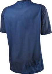 fox maillot manches courtes flow bleu s