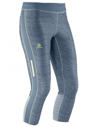 SALOMON Collant de Compression 3/4 ELEVATE Gris Femme