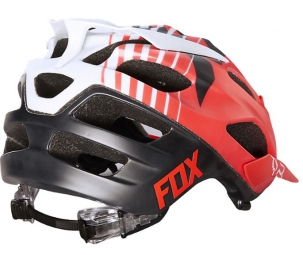Casque Fox FLUX SAVANT Blanc Rouge