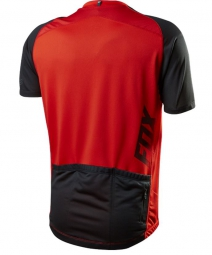 fox maillot manches courtes aircool zip rouge s