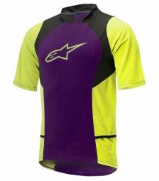 alpinestars maillot manches courtes drop 2 violet jaune s