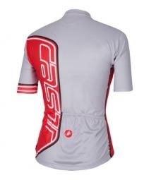 castelli 2015 maillot manches courtes formula jersey fz gris rouge xxl