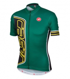 castelli maillot manches courtes formula jersey fz vert m