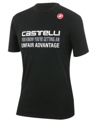 castelli t shirt advantage noir s