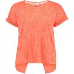 T shirt o neill crop split back fluoro peach s