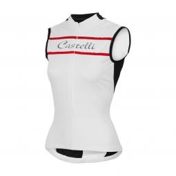 castelli 2015 maillot sans manches promessa blanc femme l