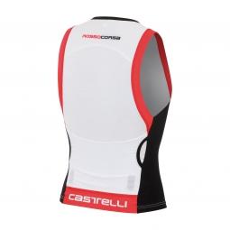 castelli 2015 maillot triathlon free tri top blanc noir rouge xl