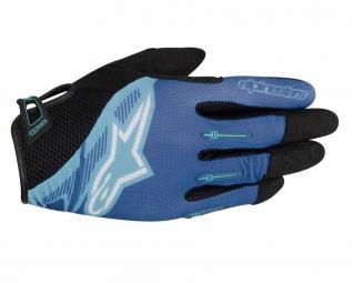 alpinestars paire de gants flow bleu m