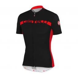 castelli maillot manches courtes prologo 4 fz noir rouge s