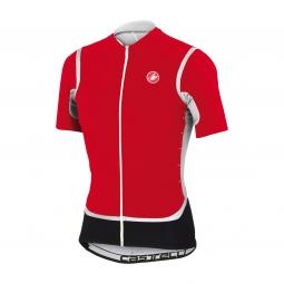 castelli 2015 maillot manches courtes raffica fz rouge blanc noir l