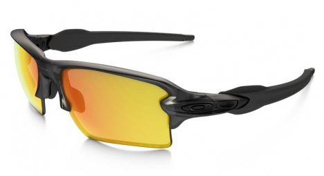 oakley lunettes polarized flak 2 0 xl grey smoke fire iridium polarized ref oo9188 10