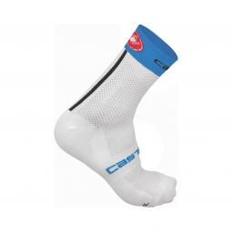 castelli paire de chaussettes free 9 blanc bleu 35 39