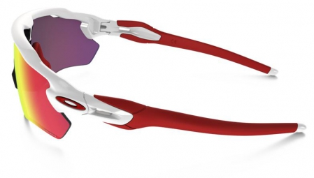 Lunettes Oakley RADAR EV PATH Blanc Rouge Prizm Road
