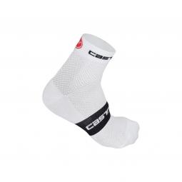 castelli paire de chaussettes free 6 blanc noir 35 39