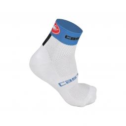 castelli paire de chaussettes free 6 blanc bleu 40 43