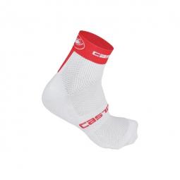 castelli paire de chaussettes free 6 blanc rouge 44 47