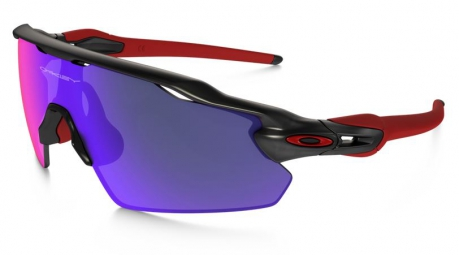 OAKLEY Lunettes RADAR EV PITCH Black/Red Iridium Réf OO9211-02