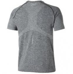 asics maillot seamless gris m