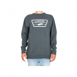 Sweatshirt Vans Men Full Patch Crew Darkest Spruce