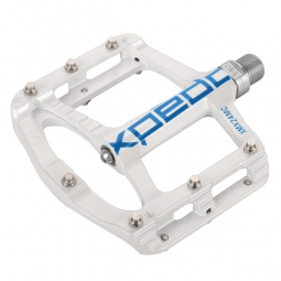 xpedo paire de pedales spry 9 16 vtt freeride blanc