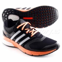 Zapatillas Adidas Questar Boost Mujer Negro Naranja