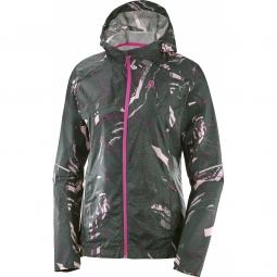 Coupe vent salomon agile wind hoodie urban chic s
