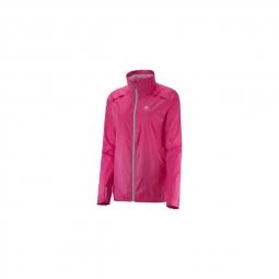 Coupe vent femme salomon agile jkt hot pink