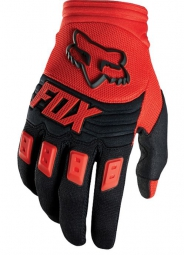 FOX 2015 Paire de gants DIRTPAW RACE Rouge Noir