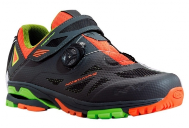 Chaussures VTT NORTHWAVE SPIDER PLUS 2 Anthracite Noir Orange