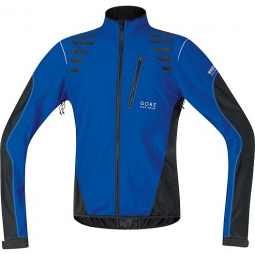 gore bike wear veste femme element windstopper active shell bleu noir xl