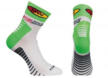 northwave paire de chaussettes speed blanc vert 44 47