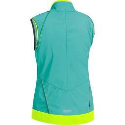gore bike wear veste femme element windstopper active shell zipp off turquoise jaune