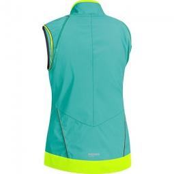 gore bike wear veste femme element windstopper active shell zipp off turquoise jaune