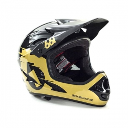 casque integral 661 sixsixone comp noir gold m 56 58 cm