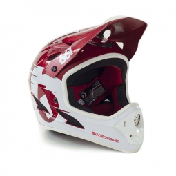 casque integral 661 sixsixone comp blanc rouge m 56 58 cm