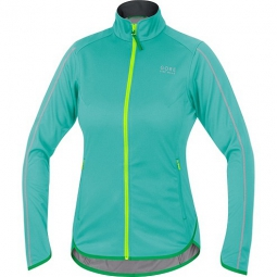 gore bike wear veste femme countdown windstopper soft shell light turquoise jaune s