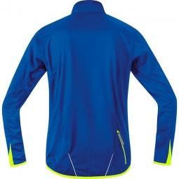 gore bike wear veste countdown windstopper bleu jaune s
