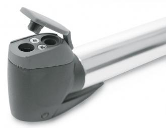 SKS Mini-Pompe INJEX T-ZOOM 256 mm Argent Noir Tête Muti-Valve
