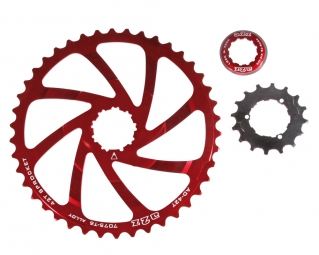 A2Z Expander Sprocket for Shimano 10 Speed Cassette - Red