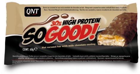 QNT en-cas hyperprotéiné SO GOOD chocolat au lait 60gr