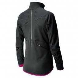 new balance veste 1 2 zip windblocker noir violet femme xs