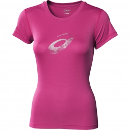 asics maillot graphic femme s