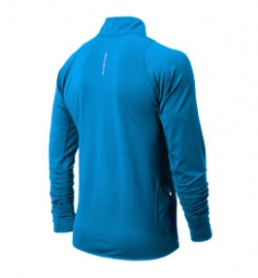new balance t shirt ml 1 2 zip bleu xl