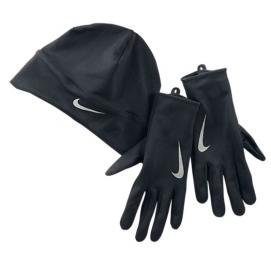 NIKE Ensemble bonnet et gants Dri-Fit Noir